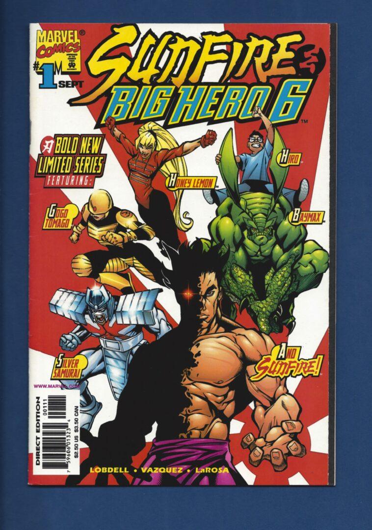 Big Hero Comic sunfire and big hero six #1 , fn/vf