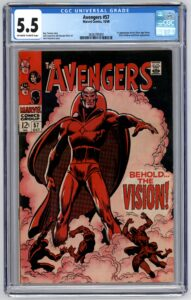 Avengers #57 CGC 5.5 1st Appearance of Vision