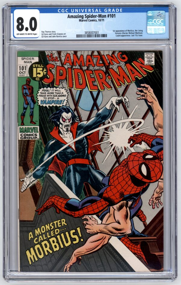 Amazing Spider-Man #101 CGC 8.0 1st Appearance of Morbus