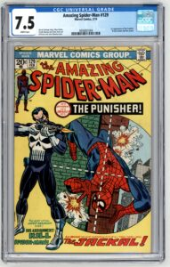 Amazing Spider-Man #129 CGC 7.5 1st Appearance of The Punisher